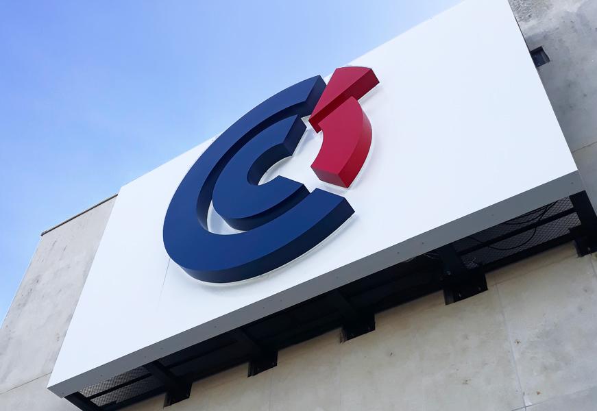 CCI de Caen - enseigne retro-éclairée