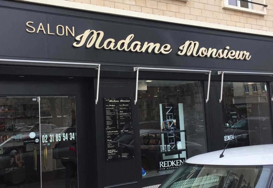 Madame Monsieur - Lettres retro-éclairées